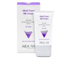BB-крем увлажняющий SPF-15 Ideal Cover BB-Cream Sand 02, 50 мл, ARAVIA Professional