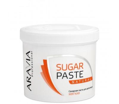 """Сахарная паста для депиляции """"Натуральная"""" ARAVIA Professional мягкой консистенции"""
