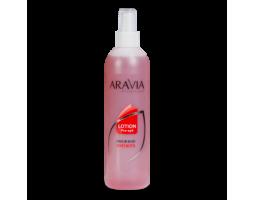 Лосьон для подготовки кожи перед депиляцией с экстрактами мяты и березы ARAVIA Professional